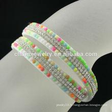 2016 Nouveau motif Custom Crystal Wrap Lady Bracelet Échantillon gratuit BCR-018-1