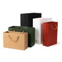 Factory customized recycled shopping carry bag exquisite Christmas gift paper bag