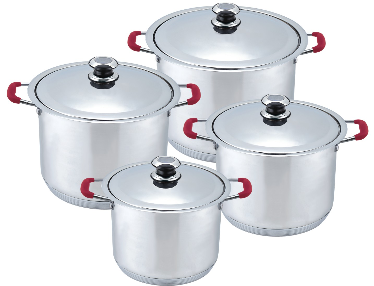 Heavy 8pcs metal Stock pot Walmart