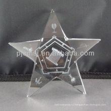 2015 Оптовая продажа индивидуальные Кристалл звезда с 3D лазерная гравировка