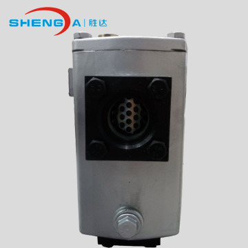 Suction oil filter housing for oil liquid filtration
