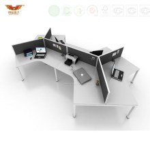 Black&White Office Call Center Design Office Wooden Cubicles (HY-299)