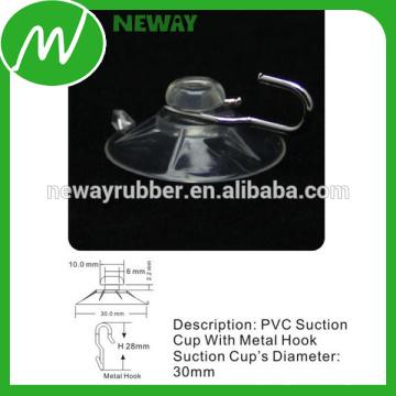 OEM & ODM PVC Glass 30mm Sucção Cup Hook