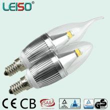 5W 90ra CREE Chip Scob pode ser escurecido LED vela bulbo (LS-B305-SB-A-CWWD / CWD)