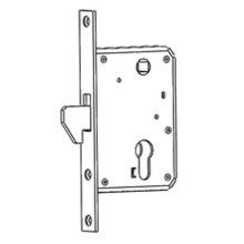 Hook bolt mortise lock