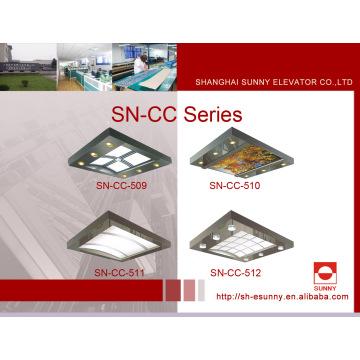 Teto da cabine do elevador com frame de aço inoxidável (SN-CC-509)