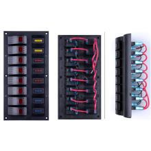 Rotlicht 8 Gangs Auto LKW Rocker Switch Marine Wippschalter Panel