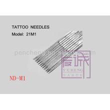 Paquete de 50 agujas de tatuaje pre-fabricadas en agujas de bar / magnum