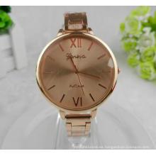 Yxl-412 mujeres de moda reloj muñeca rosa caja de oro de la banda delgada de lujo venta caliente Japón Movt aleación señoras relojes de pulsera