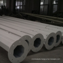 Hot dip galvanized and powder coated octagonal steel lighting pole for sale