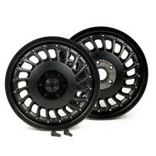 12 inch Pair of wheel rims black rim hub for Vespa