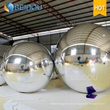 Decorativas de 20 pulgadas de oro bolas de espejo de fábrica Venta al por mayor Mini disco de bola de espejo inflable