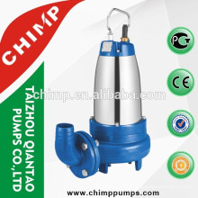 WQK three phase/single phase water pump copper winding motor submersible water pump