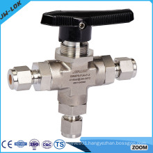 stainless steel three way port ball valve