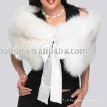 Mode Dames de mariage Cape de fourrure de renard blanc