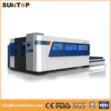 Máquina de corte do laser do aço de carbono 12mm / máquina de corte do laser da fibra de 1000W Alemanha Ipg