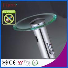 Fyeer Glass Spout Waterfall Self-Power Faucet Sensor Automático para Lavatório