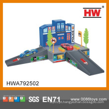 Top qualidade crianças brinquedos indoor plástico carro garagem