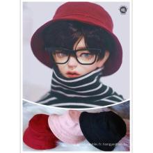 Chapeau bob BJD rose/rouge/noir pour poupée de taille MSD/SD
