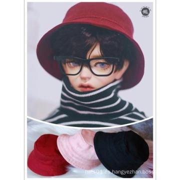 Sombrero de cubo BJD rosa / rojo / negro para muñeca de tamaño MSD / SD
