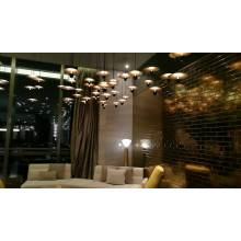 Décoration de villa d'hôtel lumière de lustre en verre personnalisé