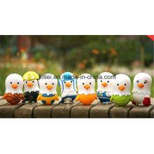 Personalizado de plástico suave apriete vinilo aves niños muñeca de juguete