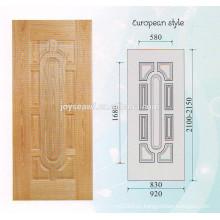 Piel de puerta de chapa de madera natural