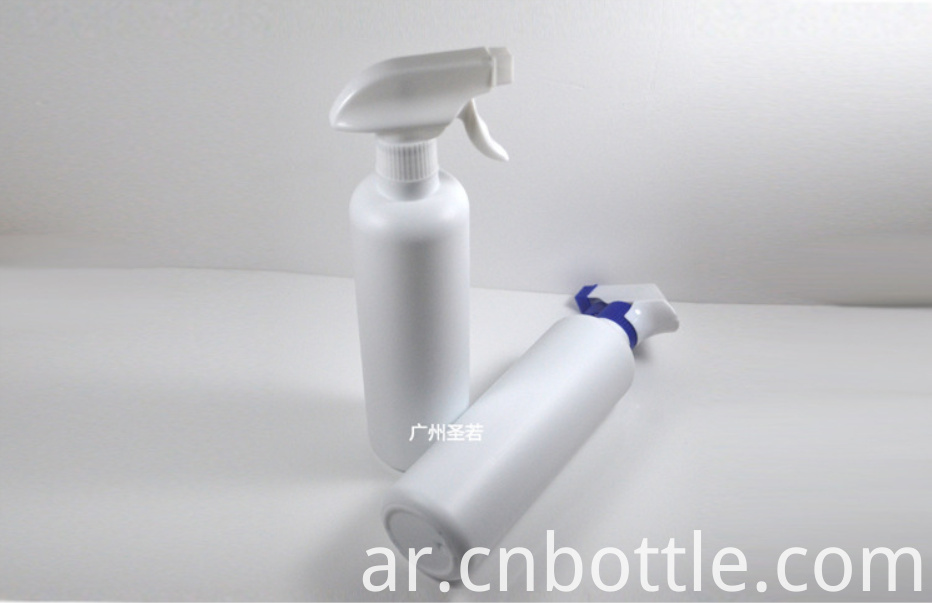 White HDPE Plastic Spray Bottle And White Trigger Spray Pump