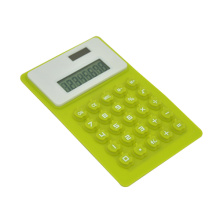 8 digits display dual power flexible silicon calculator