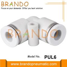 Conector de manguera de aire neumático de codo de unión de 1/8 pulgadas