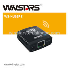 wireless usb 2.0 Networking print server,Supports DHCP Client and multiple network protocols,CE,FCC
