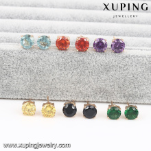23352-Xuping copper alloy shinny ladies earring wholesale