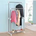 Poteau Double en acier inoxydable Clothes Hanger