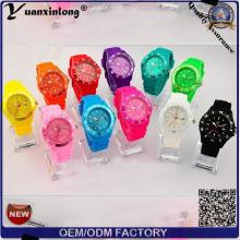 Yxl-349 Montre bracelet en caoutchouc silicone en gros Montre colorée Jelly Boy Girl Montres quartz à glace les moins chers