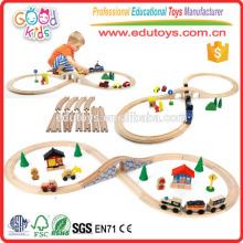 2015 Hot Sale Kids Train Set, Factory Direct Sale Wooden Train Set, Brand New Railroad Train Set
