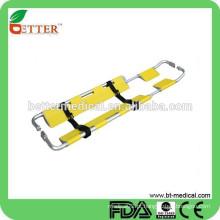 Alumínio de emergência Folding scoop stretcher com bolsa