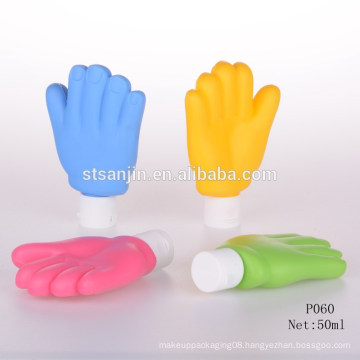 P060 Empty hand shape squeeze tube packaging cosmetic packaging bb cream tube empty brand sunscreen cream