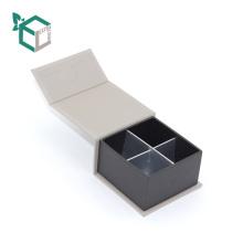 кремово-белый цвет галантерейных олень бархата Логоса серебряная штемпелюя изготовление на заказ оптовая продажа бумажной коробки шоколада трюфель
