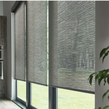 Persianas de riel de panel de ventana motorizadas