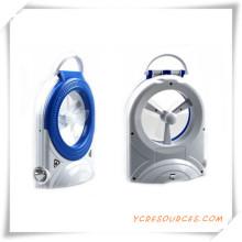 Multifuncional con ventilador electrónico de luz LED de emergencia para la promoción