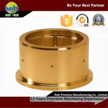 ЧПУ Латунь деталей Производство никель покрытием латуни подвергая механической обработке часть