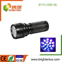 Fabrik nach Maß billig Aluminium-Edelstein-Prüfung 370nm-375nm Handheld 16 führte Ultraviolett-Fackel-Licht