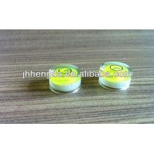 Dia15mm * 8mm, frasco transparente elevado do levle, nível de bolha planar da medição