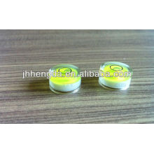 Dia15mm*8mm ,High transparent levle vial,planar measuring bubble level