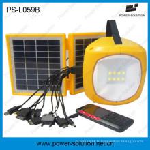 Lumière de LED solaire 2W avec USB chargeur de téléphone