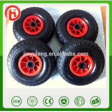 10 pulgadas 4.10 / 3.50-4 llanta de plástico Rueda de goma neumática para el coche de juguete carro de ruedas