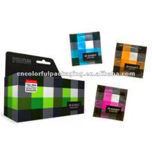 Wholesale colorido saco de embalagem de folha de preservativos