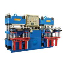 Machine de moulage hydraulique 3MT entièrement automatique à l'avant et à double pompe de haute précision pour pièces de caoutchouc industriel (KSH-100T)