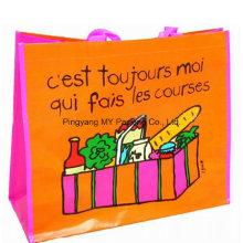 Supermarket Shopping BOPP Laminated Nonwoven Fabric Tote Bag