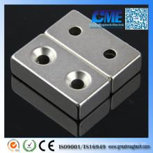 """F2 """"X 1"""" X 1/2 """"2 Senkung Löcher zu akzeptieren # 8 Schrauben Magnet"""
